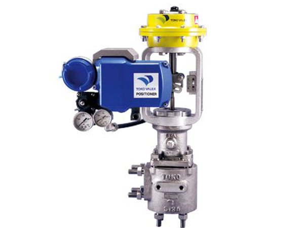Acid & Alkali service angle type control valves